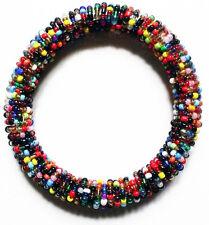 Bead Bracelet - Handmade African Kenyan Bangle Jewelry - Multicolored