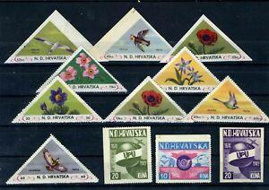 Croatia NDH exile...lot of stamp... MNH ** !!!927
