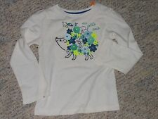 """NWT-Gymboree """"Happy Bluebird"""" long sleeved ivory, teal &navy flowered top-18-24m"""