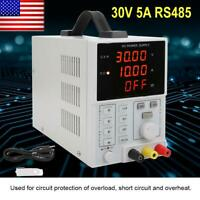 0-30V 0-5A Programmable 4 Digits LED DC Power Supply LW‑305E 110/220V