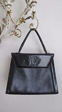 Vintage Nina Ricci Signature~ Black Leather Handbag ~ 1950's- 60's ~Top Handle