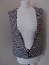 Women's Brown Black Cream Check Scoop Neck Waistcoat  M&S Limited edition 10