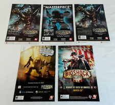 five BIOSHOCK video game ads