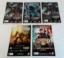 five BIOSHOCK video game ads
