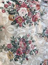 Ralph Lauren Duvet Comforter Cover Floral Scroll Full Queen Tan Beige Linen Look