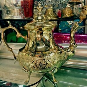 Handmade Authentic traditional Moroccan Gold Silver Plated X LARGE  Teapot *NEW*