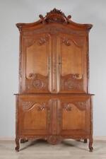 Buffet normand deux corps chêne XIXe siècle mobilier régional