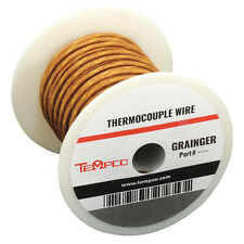 TEMPCO TCWR-1015 Thermocouple Lead Wire,K,24AWG,Sol,100Ft
