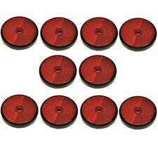 Réflecteur arrière rond rouge Pack de 10 pour les remorques Clôture Barrière