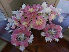 Barovier Toso Venetian Glass Flower Floral Centerpiece Candlestick Murano Pink