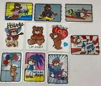 Care Bear 1991 Full Color 10 Card Sticker Hologram Set