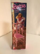 Barbie 1005 Furniture 2 Esszimmer Stühle chairs rar vintage 1985