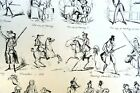 Old WAYS and NEW WAYS No 4 HENRY HEATH CARICATURE PRINT  1840 Victorian