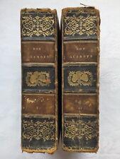 T SMOLLETT.THE LIFE & EXPLOITS OF DON QUIXOTE DE LA MANCHA.2 VOL SET 1818,V/RARE