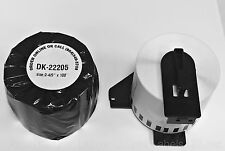 1 Rolls of DK-2205 Brother QL Compatible Labels w/ One Reusable Cartridge Frame
