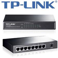 TP-LINK 8-PORT GIGABIT DESKTOP PoE switch 8x10/100/1000 Mbps rj45 STEEL CASE NUOVO