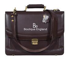 5996 Brown Glaze Mesenger Shoulder Laptop Office Briefcase Leather Bag