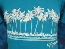 vintage 80s HAWAII BEACH PALM TREES T-Shirt XXS surf skate dogtown soft thin