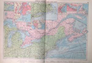 American Atlantic Ports-North Sheet, 1952, Mercantile Marine Atlas, Philip