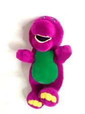 "Vintage Barney Backyard Gang Purple Dinosaur Stuffed Plush Animal Toy 9"" Tall"