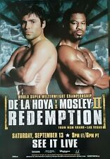 Oscar DeLaHoya vs Shane Mosley 1 and 2 fight posters Destiny & Redemption