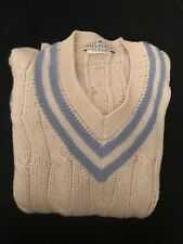 White and Blue Stripe Hill Flint Pull Over Sweater