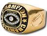 FANTASY FOOTBALL CHAMPION 24K GOLD TROPHY RING FOOTBALL ON SIDES SUPER BOWL