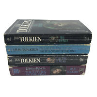 J.R.R. Tolkien Book Set Lord of The Rings + The Hobbit Set of 4 Paperbacks -S1R