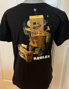 Roblox Short Sleeve Boys Youth T-Shirt Size XL 18 Black Cotton
