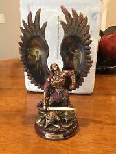 Bradford Exchange ~ Raguel ~ Archangels Of Light Bronze Sculpture Nice! W/certif