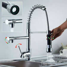 Spring Chrome Commercial Kitchen Sink Faucet Pull Down Sprayer Single Handle Tap