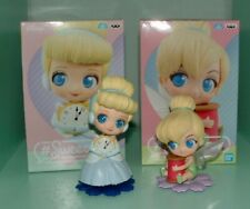 Set of 2 Q Posket Sweetiny Tinkerbell & Cinderella Figures Banpresto US Seller