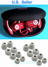 Hard Case for Monster Beats Wireless Powerbeats 2.0, 3.0 + 8 Pairs Earbuds/Gels
