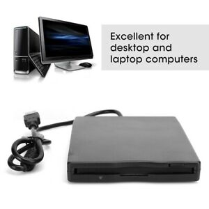 "Floppy Disk Drive FDD Disc Portable External USB 12Mbps 3.5"" PC Converter Reader"