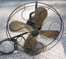 Antique 16 in. Brass Blade GE fan early 1900's