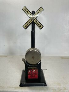 Marx O Scale Model Trains Operating Bell Ringer Grade Crossing Signal Working