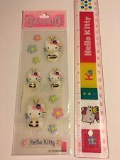 Clear Vintage Sanrio Original 1994 Hello Kitty Glitter Stickers Sticker Sheet
