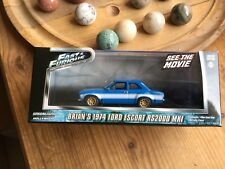 ford escort RS2000 MKI 1974 fast & furious brian o'connor greenlight1/43