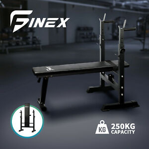 Finex Weight Bench Press Barbell Strength Training  Fitness Weights Foldable