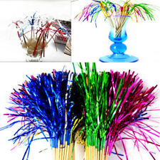 40pcs Cocktail Fireworks Stick Glitter Drink Fruit Picks Wedding Party Supplies
