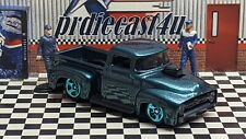 """HOT WHEELS 1956 FORD PICKUP LOOSE 1:64 SCALE CUSTOM """"GREEN"""" COLLECTION SERIES"""