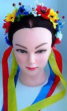 Ukrainian Ukraine Flower Headdress Head Wreath Vinok Hoop children