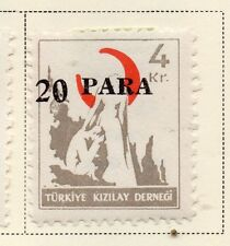 Turkey 1950-52 Early Issue Fine Mint Hinged 20p. Surcharged 085756