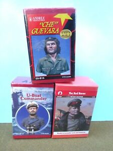 ANDREA miniatures1/10 scale Busts u-boat/Che/red baron resin/ metal kitsMIB2000s