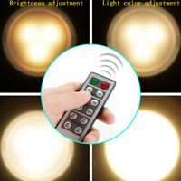 1pc/3pcs Wireless Remote Control Battery Operated Cabinet LED Light Night Lamp