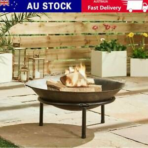 Large Fire Bowl Cast Iron Firepit Garden Outdoor Patio Fire Pit Fireplace Heater