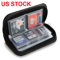Memory Card Storage Wallet Case Organizer Bag Holder SD Micro 22 Slot Camera USA