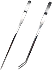 New listing Reptile Feeding Tongs Stainless Steel Straight And Curved Tweezers Polished Long