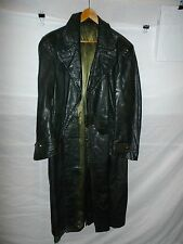 zg4 WWII German Leather Overcoat Size 38 Length 50
