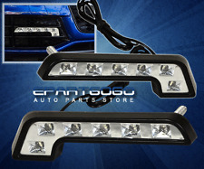 """2X 7"""" EURO BENZ STYLE 6 LED DAY TIME RUNNING SIGNAL BUMPER LIGHTS LAMPS CAR AUTO"""